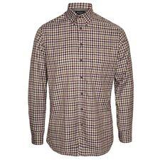 Hackett Twill Gingham Check Shirt, Brown/Green