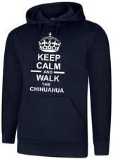 Keep Calm & Walk The Chihuahua Dog Mens Womens Hoody Hoodie Hooded Sweatshirt