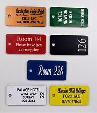 ENGRAVED HOTEL, RESTAURANT, CLUB, B & B,  KEYFOBS, KEYTAGS