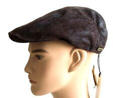 Stetson Madison Leather Leder Schiebermütze Flatcap Schirmmütze Cap Ledermütze