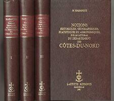 BRETAGNE HABASQUE NOTIONS HISTORIQUES GEO. SUR LITTORAL DES COTES-DU-NORD 3 VOL