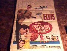 IT HAPPENED WORLDS FAIR MOVIE POSTER 1963 ELVIS PRESLEY