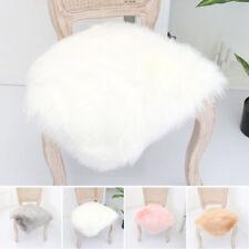 Soft Fluffy Chair Cover Seat Cushion Pad Mat Plush Fur Area Rug Carpet 40*40CM