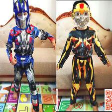 NEW SIZE 2-12 KIDS SUPERHERO TRANSFORMERS BUMBLEBEE COSTUMES BOYS OPTIMUS PRIME