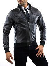 ★Giacca Giubbotto Uomo in di PELLE 100% Men Leather Jacket Veste Homme Cuir 11n6