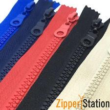 70 cm trama grossa Aperto Zip Zipper denti in plastica-Scelta di Colori 19