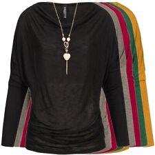 MADONNA Longsleeve mit Halskette Basic Langarm Shirt Pullover NEU