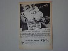 advertising Pubblicità 1962 CREMA PER BARBA VISET