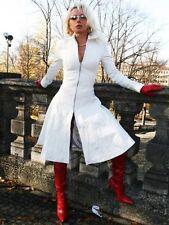 Ledermantel Leder Mantel Weiß weit schwingend Größe 32 - 58 XS - XXXL