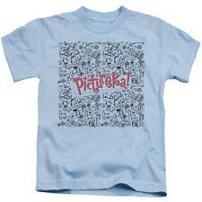 Pictureka Boys T-Shirt Drawings Light Blue Tee