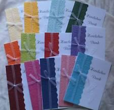 """Dankeskarten zur Taufe """" Babyfüße"""" 13 versch. Farben zur Wahl"""