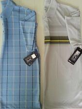New PGA Tour Dry Mens Shirt Golf Polo Pull-Over w/Collar Button Placket Polyeste
