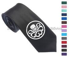 Marvel Hydra Red Skull Logo Men 6.5 cm Skinny Slim Groom Tie Necktie L11