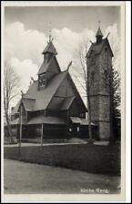 ~1940 Kirche WANG bei Brückenberg bzw. KRUMMHÜBEL Riesengebirge Schlesien Polen