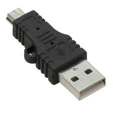 USB Type A Male to 5-Pin Mini-USB Type B Male Adapter.Brand New.Black.