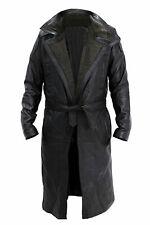 Blade Runner Ryan Gosling Officer K Fur Lapel Collar Leather Trench  Coat