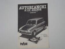 advertising Pubblicità 1974 AUTOBIANCHI A112 A 112 ABARTH POLISTIL
