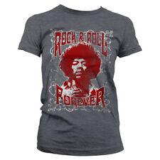 Officially Licensed Jimi Hendrix - Rock 'n Roll Forever Women's T-Shirt S-XXL