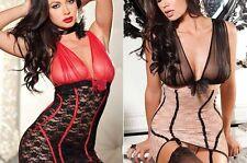 LINGERIE 36 38 XS S JARRETELLES FEMME NUISETTE SEXY UNDERWEAR STRING DONNA