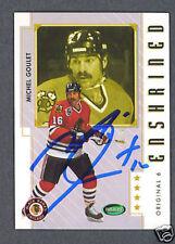 Michel Goulet Blackhawks signed Parkhurst hockey card