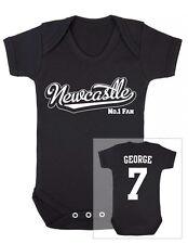 NEWCASTLE Football Personalised Baby Bodysuit Vest