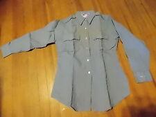 NOS Vintage Flying Cross Work Uniform Blue Collar Long Sleeve Light Blue Shirt