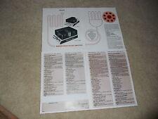 McIntosh Brochure, 4 page, MC 2100, MC 250, MC50,MC100, Specs, Info, 1977