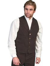 Scully Rangewear Mens Walnut 100% Cotton Canvas Western Vest