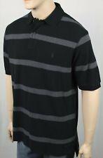 Polo Ralph Lauren Black Grey Striped Classic Fit Mesh Shirt NWT