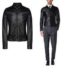 DE Herren Lederjacke Biker Men's Leather Jacket Coat Homme Veste En cuir R56b