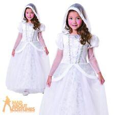Girls Kids Ghastly Ghost Bride Goth Corpse Halloween Horror Fancy Dress Age 4-13