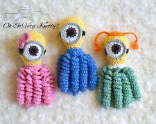 "Minion Handmade Amigurumi Preemie-Buddy, Preemie-comfort octopus, Baby Toy 7"""