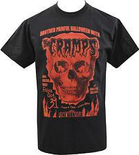 Para Hombre calambres Camiseta el Halloween Calavera Lux Interior Psychobilly garaje S-5XL