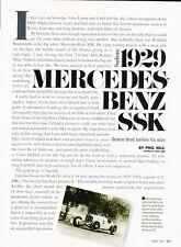 1929 Mercedes Benz SSK - Classic Article D113