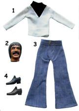 "1976 CHER 12"" mego doll -- SONNY BONO - Private Eye COAT SHIRT PANTS SHOES"