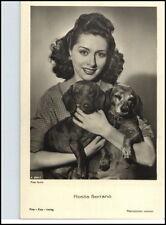 Rosita serrano actriz chile para 1950 tarjeta retrato con 2 perros en la foto