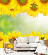 3D Yellow Sunflower Wall Paper Murals Wall Print Decal Wall Deco AJ WALLPAPER
