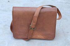 Men's Leather Messenger Shoulder Business Notebook Briefcase Laptop Bag Vintage