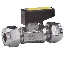 8 10 15 MM di GAS LEVA compressione valvola isolante ISOLAMENTO Chrome rubinetto