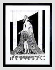 Ritratto Pittura Disegno Deco Lady ILLUSTRAZIONE Framed Art PRINT MOUNT b12x7437