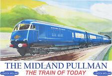 VINTAGE POSTER The Midland Pullman Train Travel Advert Retro ART PRINT A3 A4
