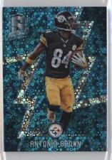 2016 Panini Spectra Neon Blue 98 Antonio Brown Pittsburgh Steelers Football Card