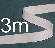 WHITE ELASTIC ¾ INCH TAPE ~ 3m long length of hem edging ~ ideal for waist bands