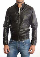 US Men Leather Jacket Hommes veste cuir Herren Lederjacke chaqueta de cuero 3s9
