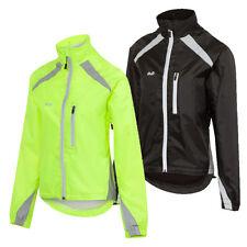 D2D Ladies Hydroviz Windproof and Waterproof Cycling Jacket - Hi Viz