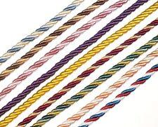 Soyeux Passepoil / Bordure Corde 5MM Corde,X2 Mtrs Couleur au Choix,Art