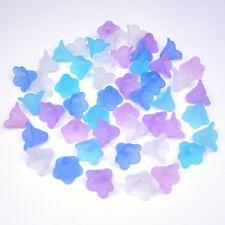 Acryl Perlen Blüten Blumen Kelche Schmuck Engel Basteln Ice Mix matt 14x10mm