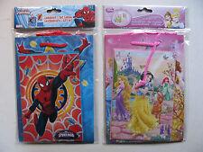 Borsa regalo con saluto CARD VARI DISNEY PRINCESS SPIDER-MAN Set Pack giftbags