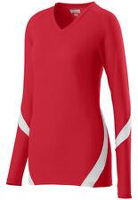 Augusta Sportswear Women's Fit V Neck Long Sleeve Dig Sports T-Shirt. 1325