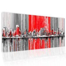 Dipinto astratto su tela Pictures Skyline City
